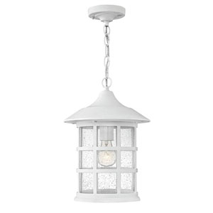 Freeport Classic White One-Light Outdoor 14-Inch 100W Hanging Pendant