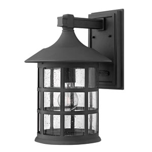 Freeport Black Fluorescent Outdoor Large Wall Light