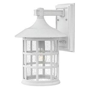 Freeport Classic White One-Light Outdoor 15-Inch 100W Large Wall Mount