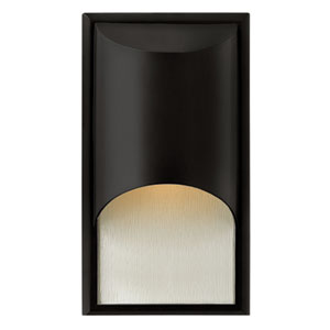 Cascade Satin Black One-Light Medium Outdoor Wall Light
