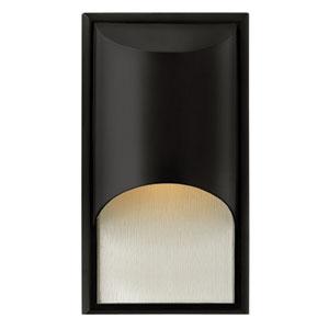 Cascade Satin Black One-Light Medium Fluorescent Outdoor Wall Light