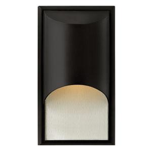 Cascade Satin Black One-Light Small LED Outdoor Wall Light