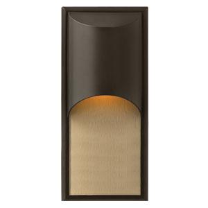 Cascade Bronze One-Light LED Outdoor Wall Light