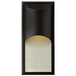 Cascade Satin Black One-Light Outdoor Wall Light
