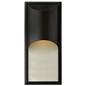 Cascade Satin Black One-Light Fluorescent Outdoor Wall Light