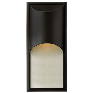 Cascade Satin Black One-Light LED Outdoor Wall Light