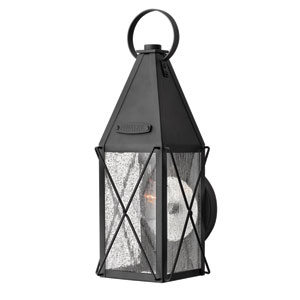 York Black Small Outdoor Wall Light