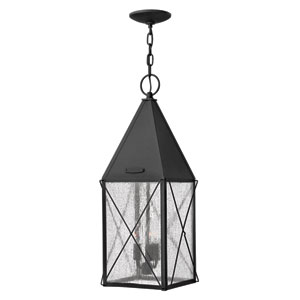 York Black Outdoor Pendant