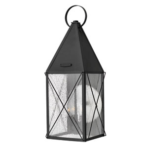 York Black Large Outdoor Wall Light