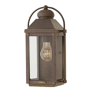 Anchorage Aged Zinc One-Light Outdoor 13-Inch Small Wall Mount