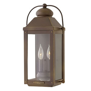 Anchorage Light Oiled Bronze Three-Light Outdoor 24-Inch Hanging