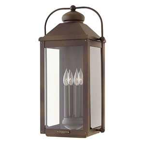 Anchorage Light Oiled Bronze Three-Light Outdoor 21-Inch Large Wall Mount