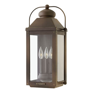 Anchorage Light Oiled Bronze 11-Inch Three-Light Outdoor Large Wall Mount