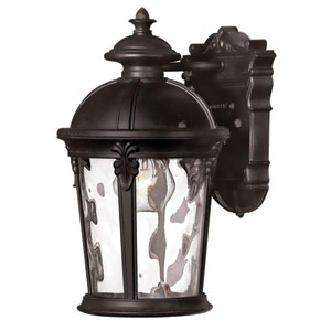 Windsor Black One-Light Outdoor Wall Light