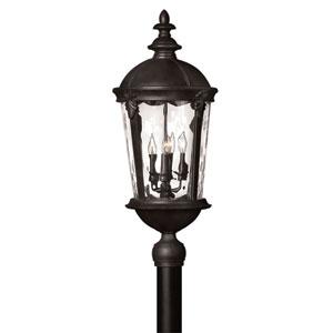 Windsor Black Four Light Outdoor Post Mount