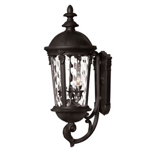 Windsor Black 25.5-Inch Three Light Outdoor Wall Light