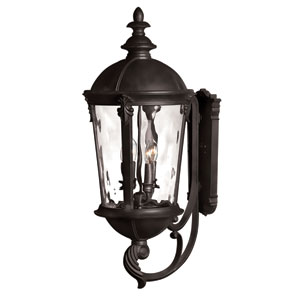 Windsor Black 32-Inch Four Light Outdoor Wall Light