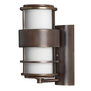 Saturn Small Metro Bronze Fluorescent Outdoor Wall Mount