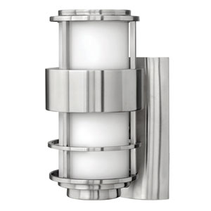 Saturn Stainless Steel One-Light Small Fluorescent Outdoor Wall Light