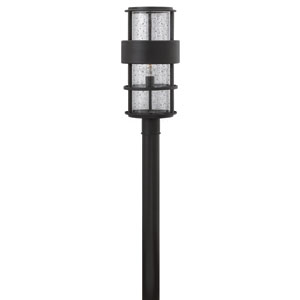 Saturn Satin Black One-Light Outdoor Post Mount