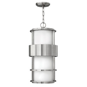 Saturn Stainless Steel One-Light LED Outdoor Pendant