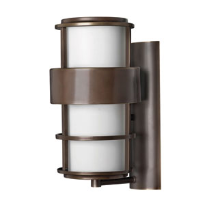 Saturn Medium Metro Bronze Fluorescent Outdoor Wall Mount