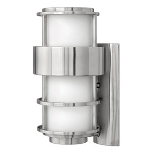 Saturn Stainless Steel One-Light Medium Outdoor Wall Light