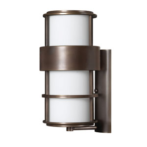 Saturn Large Metro Bronze Fluorescent Outdoor Wall Mount