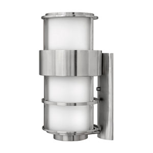 Saturn Stainless Steel One-Light Large Outdoor Wall Light