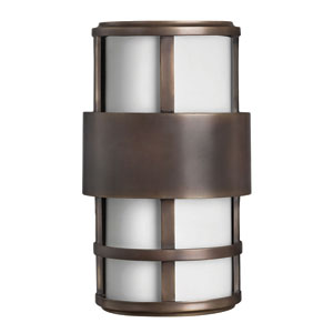 Saturn Metro Bronze Small Pocket One-Light LED Outdoor Wall Light
