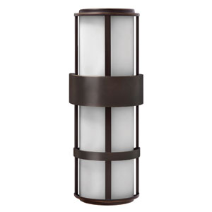 Saturn Metro Bronze Two-Light Tall Fluorescent Outdoor Wall Light