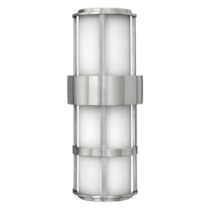 Saturn Stainless Steel Large Pocket One-Light LED Outdoor Wall Light