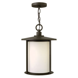 Hudson Oil Rubbed Bronze 15.5-Inch One-Light Hanging Outdoor Wall Lantern