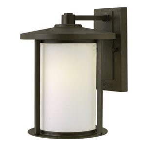 Hudson Oil Rubbed Bronze 12-Inch One-Light Outdoor Wall Lantern