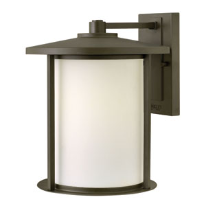 Hudson Oil Rubbed Bronze 13.5-Inch One-Light Outdoor Large Wall Lantern