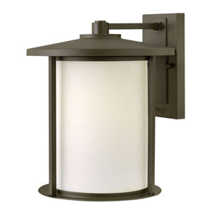 Hudson Oil Rubbed Bronze 11-Inch One-Light Outdoor Wall Mounted