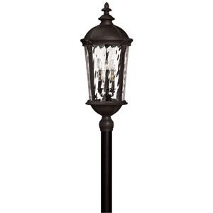 Windsor Black Six Light Outdoor Post Mount