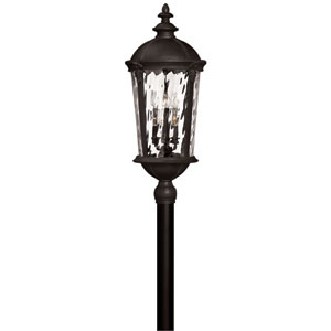 Windsor Black Two-Light LED Outdoor Post Mount