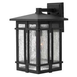 Tucker Museum Black 9-Inch One-Light LED Outdoor Wall Lantern