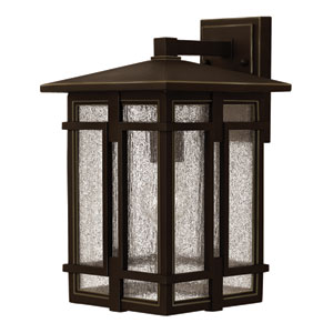 Tucker Oil Rubbed Bronze 15-Inch One-Light Outdoor Wall Sconce
