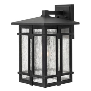 Tucker Museum Black 11-Inch One-Light Outdoor Wall Lantern