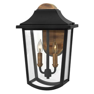 Burton Black Two-Light Outdoor Wall Sconce