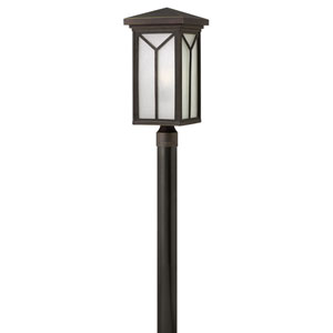 Drake Oil Rubbed Bronze 9.5-Inch One-Light Outdoor Post Mounted