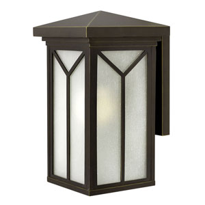 Drake Oil Rubbed Bronze 9.5-Inch One-Light LED Outdoor Wall Mounted