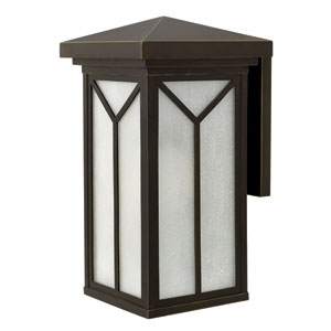 Drake Oil Rubbed Bronze 21-Inch One-Light Outdoor Wall Light