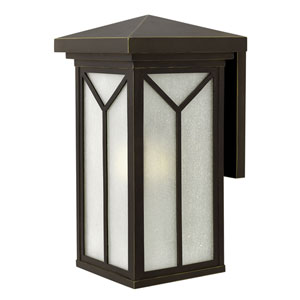 Drake Oil Rubbed Bronze 11.5-Inch One-Light LED Outdoor Wall Mounted