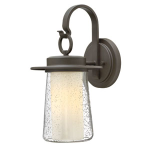 Riley Oil Rubbed Bronze 17.5-Inch One-Light LED Outdoor Wall Sconce