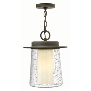Riley Oil Rubbed Bronze 11-Inch One-Light Outdoor Pendant