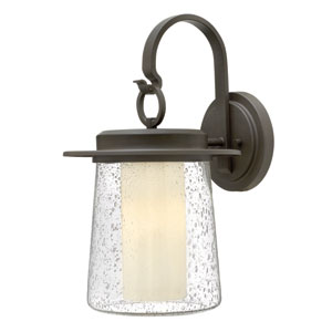 Riley Oil Rubbed Bronze 11-Inch One-Light Outdoor Wall Mounted