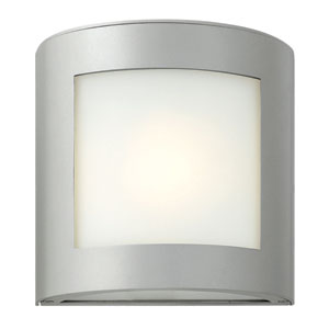 Solara Titanium One-Light Outdoor Wall Mounted